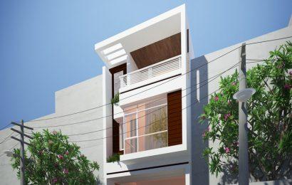 Mẫu thiết kế nhà phố 2 tầng với diện tích mặt tiền 5m