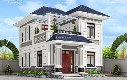 Mẫu thiết kế biệt thự 2 tầng cổ điển đẹp 2020