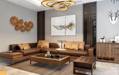 Lưu ý khi chọn chất liệu gỗ óc chó cho bàn ghế sofa phòng khách