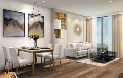 Mẫu thiết kế nội thất phòng khách chung cư 70m2